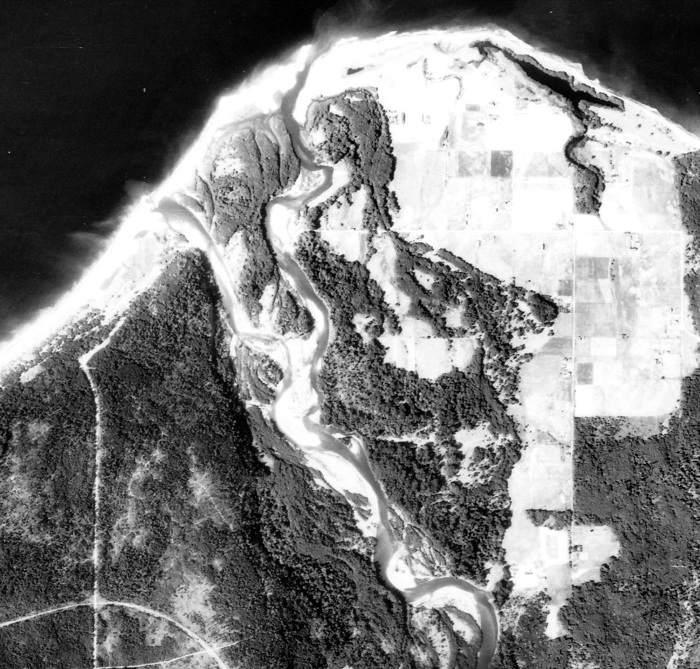 Aerial Photo of the Elwah River Mouth from 1939