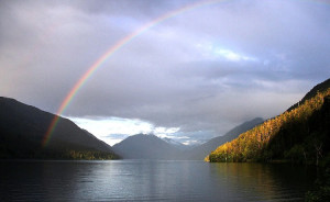 Lake-Crescent-rainbow