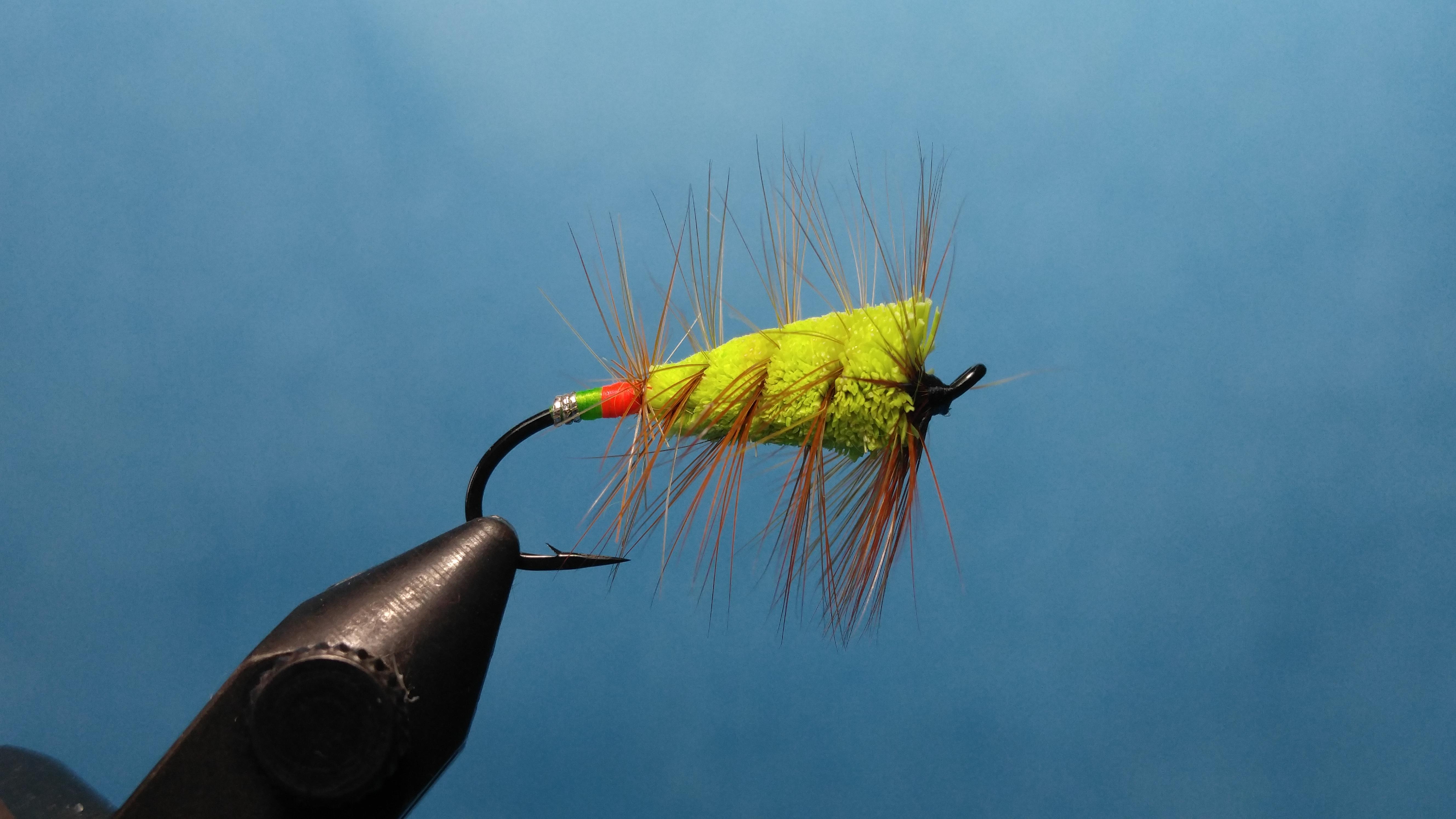 #6 salmon hook Buck Bug Green Machine